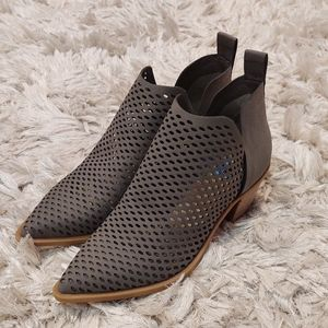 Dolce Vita NWOT Sheer Perforated Ankle Booties